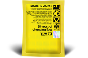 Supreme Gold Edition TRMX 4 Original. TRMX 4 Original has everything from the TRMX-3 30th Anniversary plus natural activated hydrogen antixodant and holomedic. TRMX 4 Original provides 300% more analgesic, anti-inflammation and anti-stress properties (world-wide patents 7182965, 4485940, 03720506.09) and has been proven highly effective to enhance cognitive, social skills, creativity and intelligence.